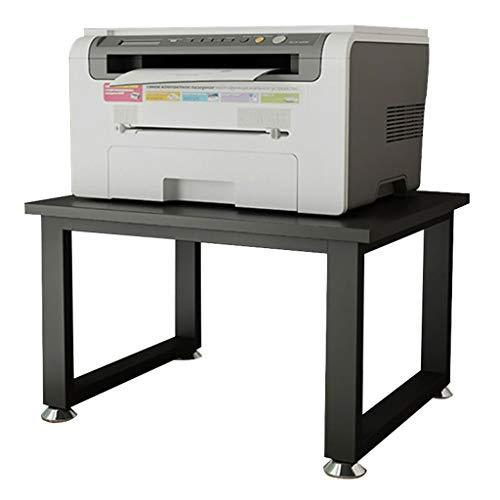 Horno Tablero For Impresora Piso De Una Sola Capa Impresora De Escritorio De La Cocina De Microondas Estante Estante De Vivir Trastero Estantería Estudio Estante ( Color : Black , Size : 50*40*24cm )