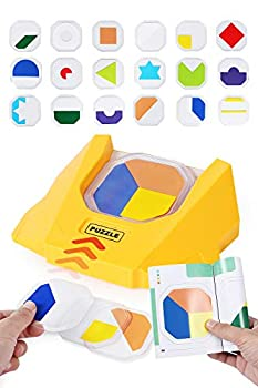 Elovien Kids Smart Board Games Color Cognitive Brain Games with 100 Challenges Skill-Building Logic Toy for Family Party Travel IQ Puzzle Games for Boys Girls Aged 3,4,5,6,7,8 + and Adults