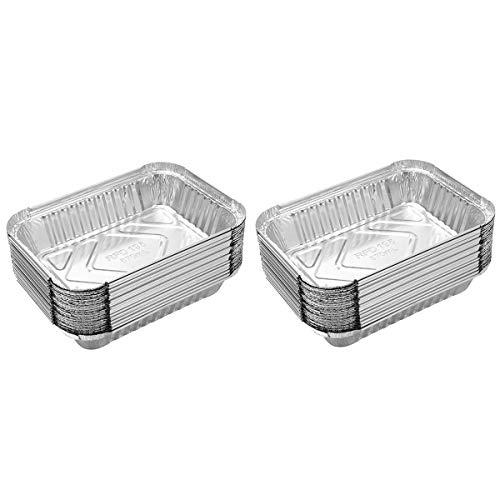 Lackingone Vassoi in alluminio usa e getta per barbecue, teglie da forno creative, 10 ~ 100 pz.