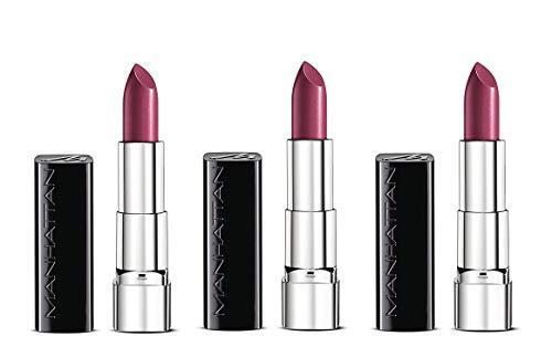Manhattan Moisture Renew Lipstick, cremiger Lippenstift, feuchtigkeitsspendend, intensiv, langanhaltend (3er Pack) (900 Crystal Berry)