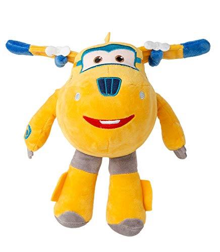 Super Wings 26 cm Aeroplano Felpa Figuras Animales de peluche para coleccionar, jugar y abrazar, Jett, Jerome, Dizzy o Donnie para niñas y niños (Donnie, amarillo)