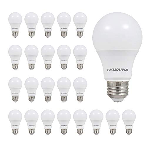 LEDVANCE 74765 A19 Efficient 8.5W Soft White 2700K 60W Equivalent LED Light Bulb (24 Pack), 24 Count