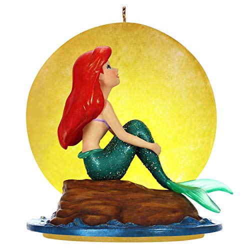 Hallmark Keepsake Christmas Ornament 2019 Year Dated Disney The Little Mermaid Part of Your World Musical with Light (Plays Song)