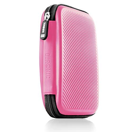 hard disk esterno rosa Duronic HDC2 Rosa Custodia Hard Disk Esterno - Custodia in Alluminio Portatile per Hard Disk Esterno e Cavi - Leggero e Protettivo - Adatto per Western Toshiba Buffalo Hitachi Seagate Samsung
