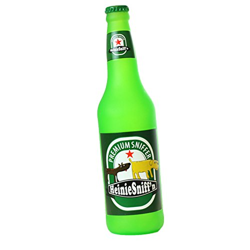 Silly Squeakers – Beer Bottles- Heinie Sniff'n - Dog Toy - 100% Vinyl. Made Durable & Strong. Novelty Play Toy. 14 Bottles to Choose from and it Floats (Heinie Sniff'n)