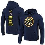 AWEY Denver Nuggets Nikola Jokic 15# - Sudadera con capucha para hombre, cómoda, cálida y suave, informal, manga larga, con capucha, tallas S-3XL, color azul