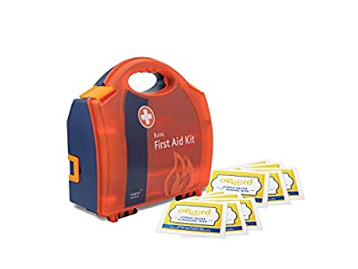 Reliance Medical Burn First Aid Kit Compact Aura Box and Oqard Saline Wipes - 1 Set from Muzamedical