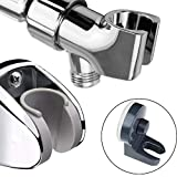 YOO.MEE Shower Bracket Holder Combo Set w/Arm Mounted Shower Bracket w/Wall Mounted Shower Holder w/Vacuum Suction Cup Shower Support, Adjustable and Convenient Optional for All Families