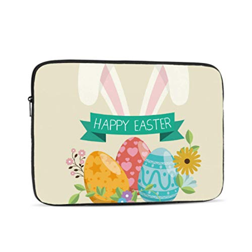 Mac Book Pro Case Colorful Happy Easter Calligraphy Paint Mac Book Pro Cases Multi-Color & Size Choices10/12/13/15/17 Inch Computer Tablet Briefcase Carrying Bag