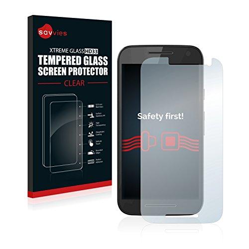 savvies Cristal Templado Compatible con Motorola Moto G Turbo Edition Protector Pantalla Vidrio Proteccion 9H Pelicula Anti-Huellas