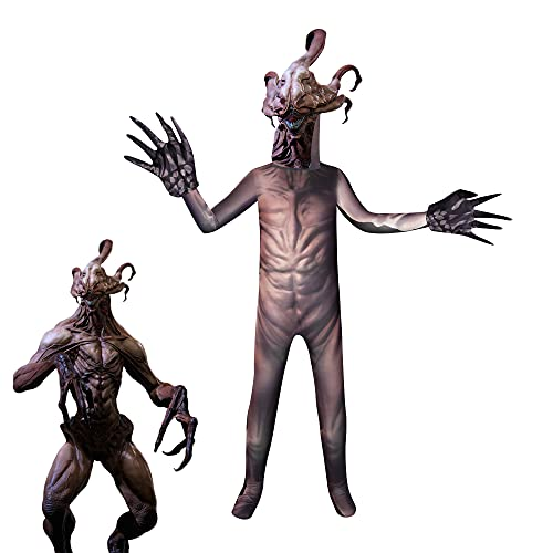 Halloween Demogorgon Costume for Kids Boys Scary Monster Costume Creepy Jumpsuit Cosplay Party Dress Up 5-12 Years