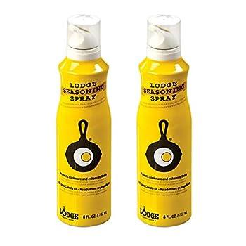 Lodge Canola Oil 8 Ounce Seasoning Spray Set of 2