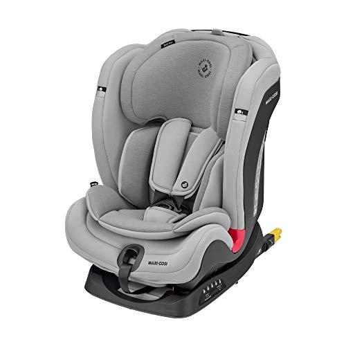 Maxi-Cosi Titan Plus Silla Coche bebé grupo 1/2/3 isofix, 9 - 36 kg, silla auto bebé reclinable con reductor y Clima Flow para el control de la temperatura, crece con el niño 9 meses- 12 años, gris