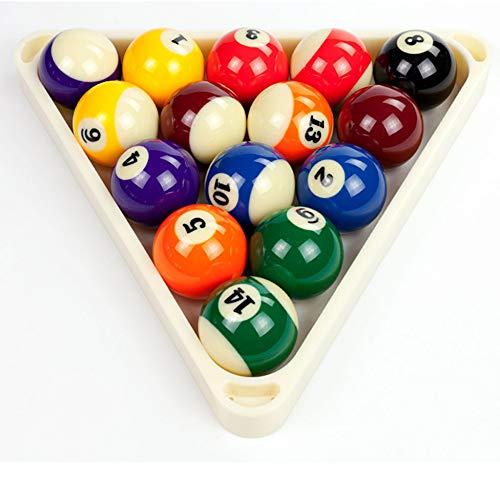 JRPT Billard-Triangel Plastik,Billardtisch Zubehör Dreieck Billard Ball Rack,Halten Sie 15 Kugeln Robust/Weiß / 57.2mm