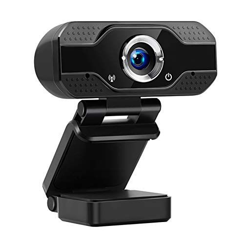HXCH Cámara web con micrófono, 1080P HD Streaming Gran Angular USB Cámara Compatible con PC Ordenador Portátil para Videollamadas Clase Online Conferencias Grabación Juegos +Soporte