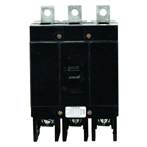 Thermal Magnetic Circuit Breaker, GHB Series, 480 VAC, 250 VDC, 15 A, 3 Pole, Panel