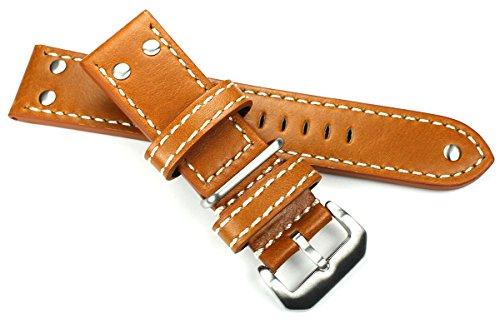 Sulla - Correa de reloj de piel de ternero, tamaño XL, con...