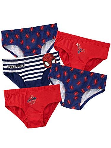 Spiderman Jungen Spider-Man Unterwäsche Packung mit 5 Mehrfarbig 104