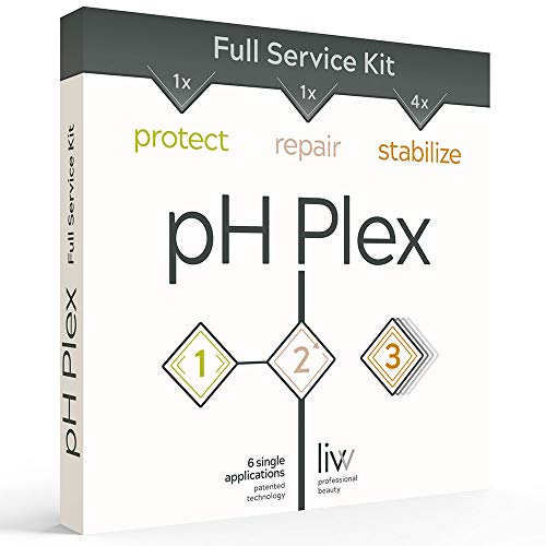 pH Plex Protect, Repair & Stabilize - Full Service Kit, Protect Hair During Color/Bleach, Repair Damaged Hair, Fortify the Effect In-Between Treatments; One Double Sachet of Steps 1 & 2, Two of Step 3