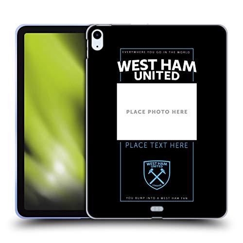 Custom Customised Personalised West Ham United FC Crest 2 Claret Soft Gel Case Compatible for Apple iPad Air (2020)