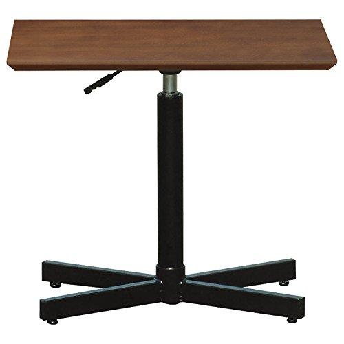 ルネセイコウ テーブル ブランチヘキサテーブル 昇降機能付 ダークブラウン/ブラック BRX-645TD