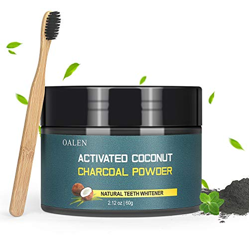Activated Charcoal Natural Teeth Whitening Powder(60g) by Bestidy?Teeth Whitening Powder with Bamboo Brush Efficient Alternative to Charcoal Toothpaste, Strips, Kits, Gels Easy Cleaning No Hurt on Ena
