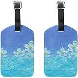 Etichette per bagagli Porta-etichette per bagagli da donna pieno d'acqua Fiore bianco Acce...