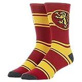 Harry Potter Houses Striped Crew Socks (Gryffindor (Red))