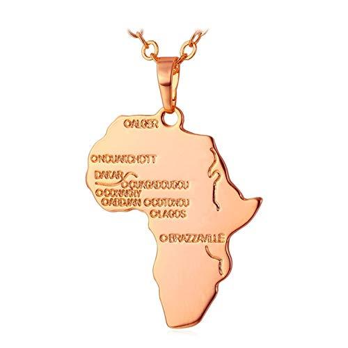 DERFX Joyería de Hip Hop 20'Cadena Larga Cadena Africana Colgante Collar Collar Hombres Mujeres Regalo Accesorios (Color : B)
