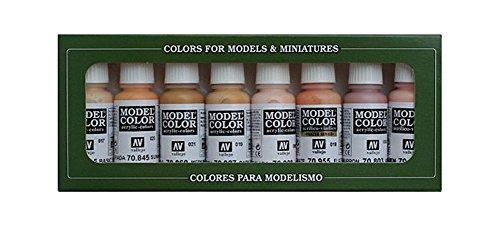 Vallejo 70124. Set pintura acrilica Model Color con 8 colores piel de 17ml cada uno