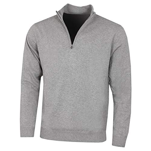 Greg Norman Herren Bonded 1/4 Zip Golf Sweater - Grau - XL