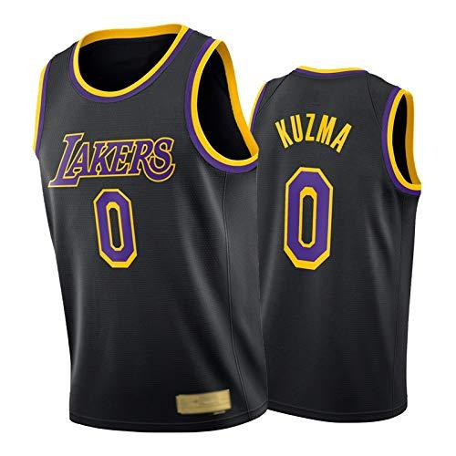 FRQQ Kylê Kzmà #0 Camiseta de baloncesto, 2021 Nueva temporada Laker ganó edición sin mangas para hombre, secado rápido ropa deportiva cuello redondo superior XL (85 ~ 95 kg)