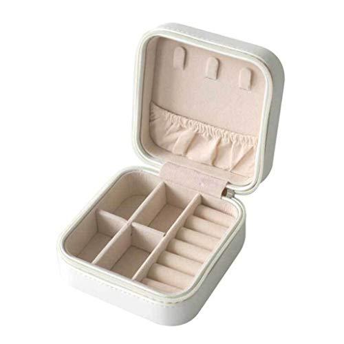 gszfsm001 - Caja de almacenamiento portátil para mujer de viaje de piel