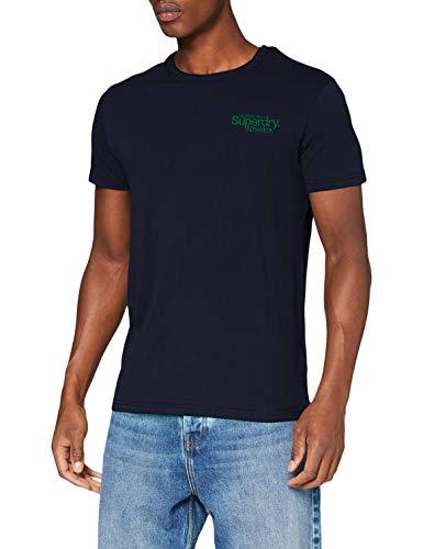 Superdry Cl ATH Micro tee Camiseta, Marina Nautica, XS para Hombre
