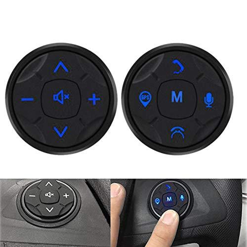 TOOGOO 10 SchlüSsel Auto Universal Lenkrad Kontrolleur Drahtlose Musik DVD GPS Navigation Lenkrad Radio Fernbedienung Taste