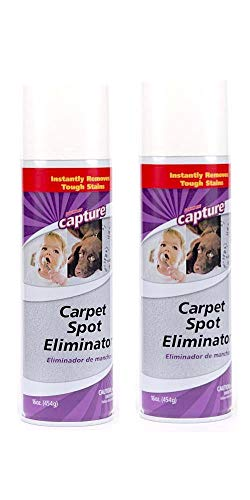 Capture Carpet Spot Eliminator-2 Pack_Treatment For Any Stain Including Grease and Oil Based Stains, Ink, Makeup, Lipstick, Carpets and Furniture