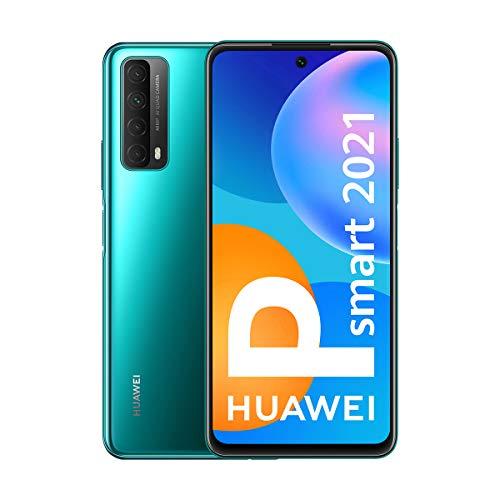 HUAWEI P Smart 2021 - Smartphone de 6,67 Pulgadas Full HD, 4GB de RAM y 128 GB de ROM, 22.5W HUAWEI Supercharge, 5000 mAh de batería, Cuádruple cámara 48 MP, Verde [Versión ES/PT]