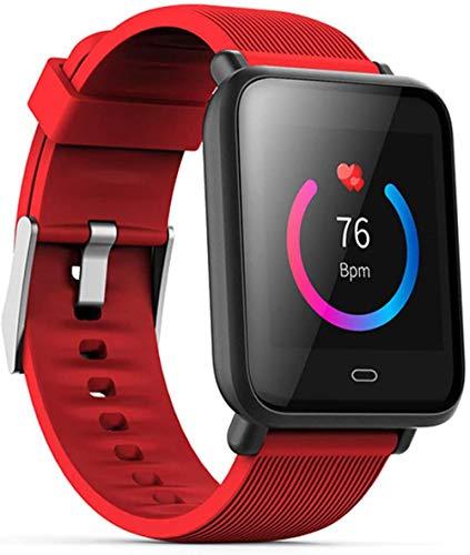 Pulsera Inteligente 1.3 pulgadas Monitor de Ritmo Cardíaco Presión Arterial Fitness Tracker IP67 Impermeable Deporte Reloj Inteligente - Rojo