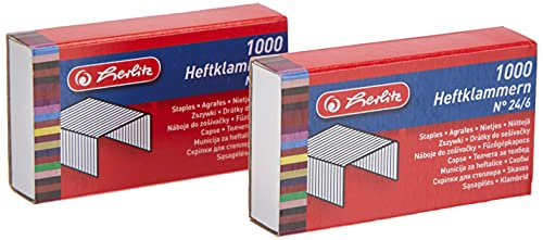 Heftklammer 24/6 2x1000 Stück BLK