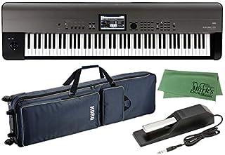 KORG コルグ - ミュージック ワークステーション シンセサイザー KROME EX 88鍵盤モデル KROME-88EX + 純正ソフトケース SC-KROSS2 88/KROME 88 + ダンパーペダル DS-1H + マークスクロス...