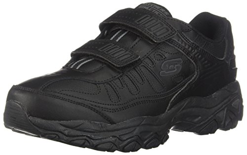 Skechers Sport Men's Afterburn Strike Memory Foam Velcro Sneaker, Black, 13 M US