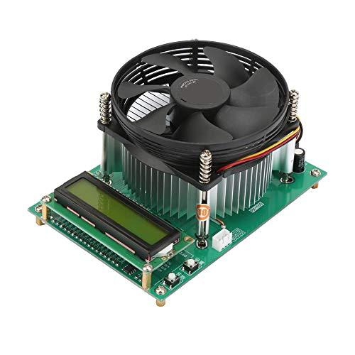 Dpofirs Batterieentladungs-Testmodul 150 W Konstantstrom-elektronische Ladekarte Batterieentladekapazität Testmodul, 1602 LCD-Bildschirm 9 cm CPU-Lüftertest Batterieentladekapazität