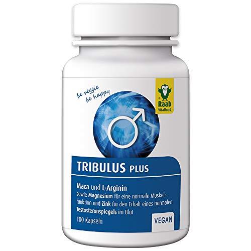 Raab Vitalfood Tribulus plus für Männer, Tribulus Terrestris, mit Maca und L-Arginin, mit Magnesium und Zink, Kapseln, laborgeprüft, 65 g