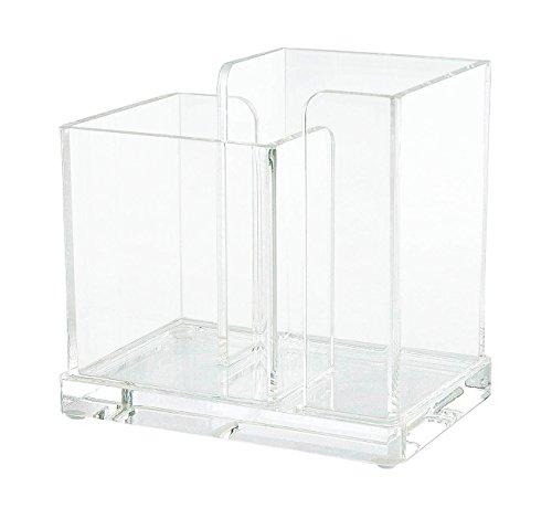 Wedo Cristallic - Organizador de escritorio acrílico, transparente