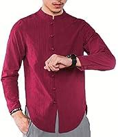 Heaven Days(ヘブンデイズ) ワイシャツ 長袖 シャツ Yシャツ 長袖シャツ 中国風 チャイナ服風 スタンドカラー メンズ 1809D0237