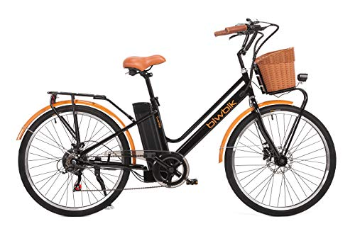 BIWBIK Vélo électrique Mod. Gante Batterie Lithium ION 36V 12Ah (Blanc)