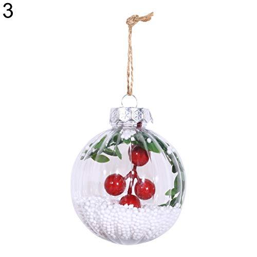 Toyland/® Boules de No/ël Transparentes 3 x 20 cm D/écorations pour Arbres de No/ël