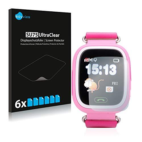 Savvies 6X Schutzfolie kompatibel mit Vidimensio Kleiner Panda Displayschutz-Folie Ultra-transparent
