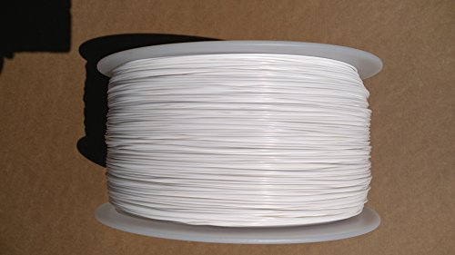 White 1.75mm 2KG Spool (4.4 lbs/roll) FilaCube PLA 2 (PLA 2nd Generation) Pure Real White 3D Printer Filament [Made in USA] polylactic Acid FDM