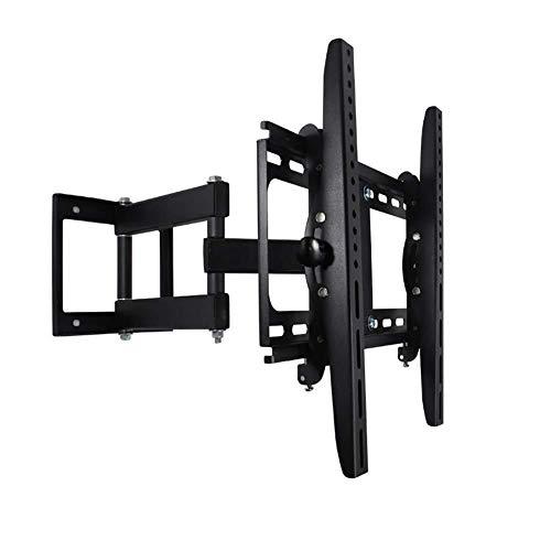 WJJ Soporte TV Pared Soporte TV Movimiento Completo articulado de Pared for TV Soporte de Montaje de 26-55' LED LCD HD 4K TV de Plasma, 5 ° / -15 ° de inclinación y Giro de 90 °
